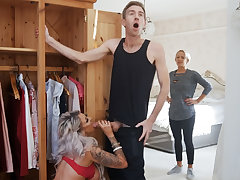 Husband fucked hard wife's best friend
