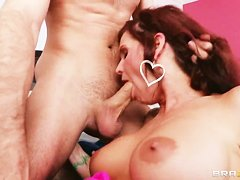 Syren De Mer enjoys her son's well-hung friend company