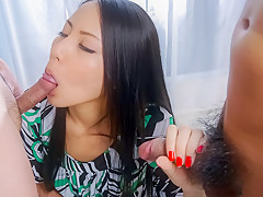 Horny Japanese model Ren Azumi in Best JAV uncensored Cumshots scene