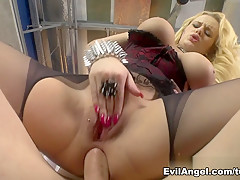 Horny pornstars Angel Wicky, Mike Adriano, Markus Dupree in Amazing Anal, Blonde adult movie