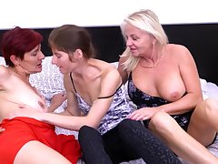 Mature lesbian hardcore threesome there Lucy Gresty and her friends