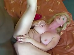 Big Tits Granny Black Cock Cumshot On Chest After Bj