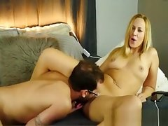 Hot Busty Blonde Cougar gets say no to Pink Pussy Eaten by Tighten one's belt