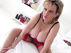 Sprog Sonia undressing and teasing in her lingerie