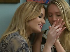 Yummy tot AJ Applegate is licking and masturbating pussy of sexy GF