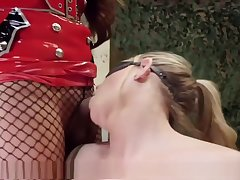 Military MILF screwed By TS Interrogator