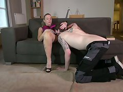 Adult nasty housewife Vera fucks young plumber added to eats his sperm