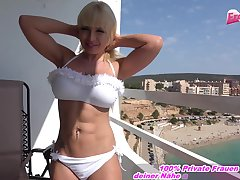 german blonde hooker anal ass to mouth balcony
