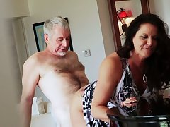 Bootyful and fat tittied cougar Leylani Wood goes jilted on a hard dick and gets doggy fucked