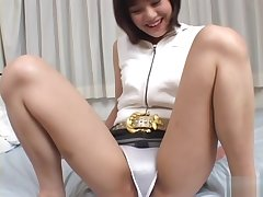 Mako Takeda Asian MILF has a hairy enticing pussy
