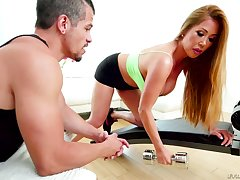 Asian bombshell Kianna Dior gets facial after hardcore threesome sex