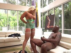 Very Busty Blond Hair Lady Had Sexual relations Away from A Big Black Saus - alura jenson