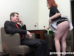 Busty together with horny ladies are pocket watch unforgettable threesome in the office