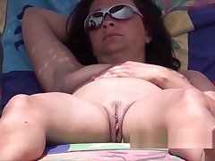 Pierced Clit Fat Pussy Nudist Hot Milf Voyeur Beach Snoop
