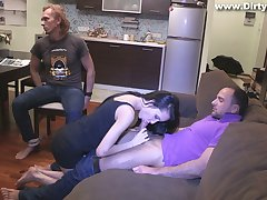 Slutty girlfriend Rosa Mentoni is fucked to the fore of plighted cuckold boyfriend