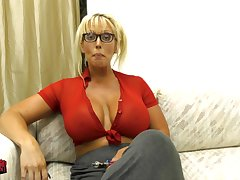 massive heart of hearts Alura Jenson makes a dildo disappears to her decolletage