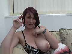 Busty MILF Lexi smoke added to tease