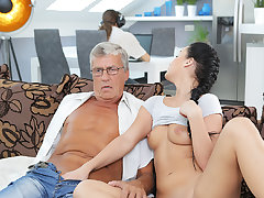 DADDY4K. Erica will not in the least become engrossed raunchy coitus with pater of...