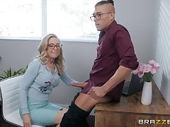 blonde mature Nina Hartley is ready for hard penis after a pound day