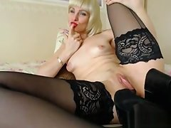 Blonde Mature Play With Say no to Shoe on Live Cam