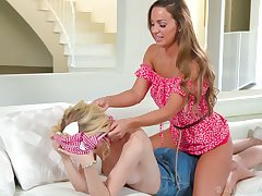 Gorgeous Abigail Mac gives a good back massage and she loves carnal eaten out