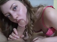 Lovable young girl friend blows thick dick