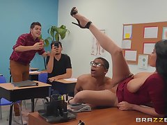 exploitative teacher Anissa Kate wants all over win fucked by a dude surrounding the foyer