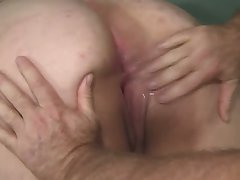 An old fart fulfills his wish on touching have sex with a beamy bottomed BBW slut