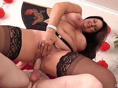 Brunette milf Laylani Wood knows how to please her friend's sexual needs
