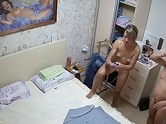Skinny milf in her bedroom exposed with reference to ip camera