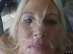 Handjob Giving Head Facial for a Dirty Talking Of age