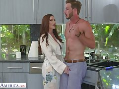 Luscious red haired mommy Diamond Foxxx seduces interesting stepson